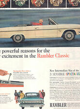 1965 RAMBLER CLASSIC CONVERTIBLE FULL PAGE MAGAZINE AD-IN PLASTIC SLEEVE-VINTAGE