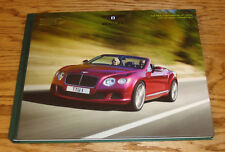 2014 Bentley Continental GT Speed & Convertible Hardcover Book Sales Brochure 14