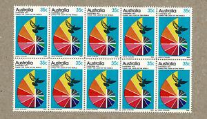 Australia 1972 35c Christmas Block 10 MNH