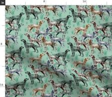 New listing Dog Grass Stencil Hunting English Setter Setters Spoonflower Fabric by the Yard