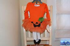 Blueberi Boulevard Baby Girl's Pumpkin Tutu Dress & Tights Set Sz. 18 M NEW
