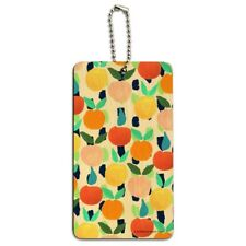 Colorful Citrus Tropical Fruits Pattern Wood Luggage Card Carry-On ID Tag