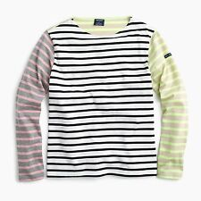 $128 SAINT JAMES FOR J.CREW Colorblock Stripe T-Shirt Style E3649 Size M/38