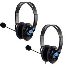 2x Stereo Wired Gaming Headsets Headphones with Mic for PS4 Sony PlayStation 4