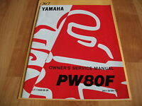 Yamaha PW80F 11626-08-90 Owner's Service Manual