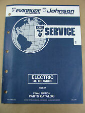 1992 OMC JOHNSON EVINRUDE ELECTRIC OUTBOARD TROLLING MOTOR PARTS CATALOG 115956
