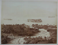 Italia Lac Maggiore E Isole Borromeo Vintage Albume D'Uovo,Stampa D'Uovo Ca 1880
