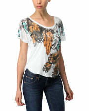 Tee Shirt Graphic SPOILED Feather Print Tee  Top SZ M Medium NEW NWT