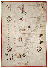 Northwest Africa Morocco Canary Islands Madeira Cape Verde map Joan Oliva ca1590