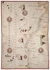 Northwest Africa Morocco Canary Islands Madeira Cape Verde map Joan Oliva ca1590