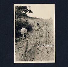 #392 rössler Akt foto/nude woman study * vintage 1950s Outdoors photo-no pc!