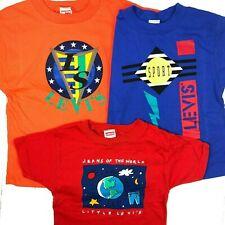 Vintage Levis Kids Baby 3 T-Shirt Bundle Sizes 2T + 6 + 7 USA Made Sport Cotton