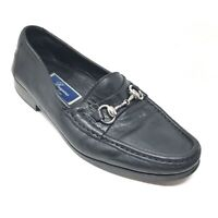 Men's Bragano by Cole Haan Horsebit Loafers Shoes Size 9.5 M Black Leather P2