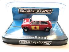 Scalextric Mini Cooper S - 1966 Rac Rally W/ Lights 1/32 Slot Car C3747