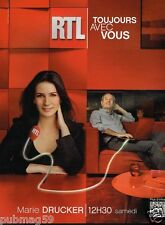 Publicité advertising 2012 Radio RTL avec Marie Drucker