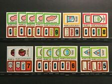 1978-79 Topps Hockey Insert Stickers Lot of 41 - 13 Different (of 22) Sku11J
