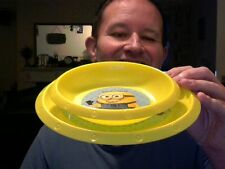 DISNEY DESPICABLE ME BREAKFAST BOWL & PLATE SET FUN PERFECT BIRTHDAY GIFT!