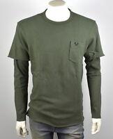 True Religion Brand Jeans Men's Militant Green Knitted Shirt Top - MSJAR6C110