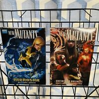 2 New Mutants Premiere Hardcover Lot : Unfinished Business & Necrosha