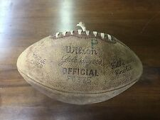Wilson F1375 Gale Sayers Full Grain Cowhide Football Made For Jc Penney