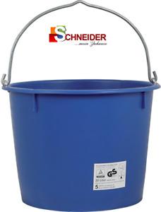 Baueimer blau kranbar 12l / 20l Auswahl verz. Bügel Mörteleimer Putzkübel