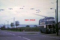 PHOTO  1970 BRADFORD TROLLEYBUS SUNBEAM F4 TROLLEYBUS 845 (JWW 375)  AT CLAYTON