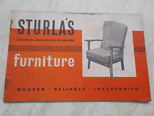 STURLA'S Furniture Old Advertising Booklet With illustrations & Prices - Undated