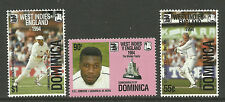 DOMINICA 1995 CENTENARY ENGLISH CRICKET TOURS 3v MNH