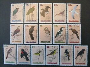 BAHAMAS, SC# 709-724, BIRDS SET (1991) MHG