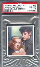 1939 Famous Love Scenes Card #16 MARLENE DIETRICH Knight Without Armour PSA 6