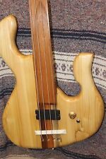 Bass Fretless 4 String 100 Year Spruce Stude Wishbass Soapbar pickup, oil finish