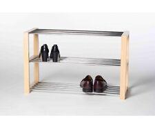 Schuhregal Schuhablage Regal naturfarbig hell Luis 3 Etagen ca. 80 cm breit