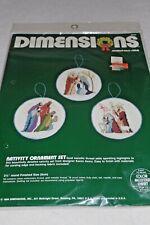 New listing Dimensions 8322 Nativity Ornament Set Counted Cross Stitch kit Nip