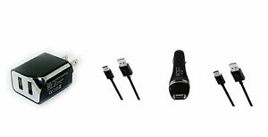 Car+Wall AC Home Charger+5ft USB Cord Cable for Verizon Jetpack MiFi 8800 8800L