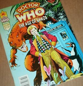 "DOCTOR WHO ""THE AGE OF CHAOS"" Magazine Special COLIN BAKER UK Marvel 1994 6th DR"