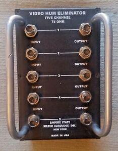 Empire State Filter Co. 5 Channel Video Hum Eliminator Model 500