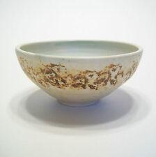 Wheel Thrown & Sponge Glazed Studio Pottery Bowl - Signed - Canada - 20th C.