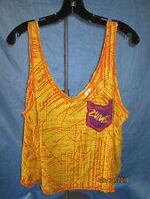 Zumba Fitness  LadiesYellow and Orange Tank with Purple pocket