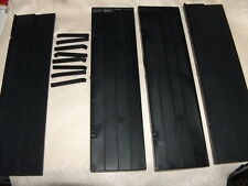 Pressman 1990 Rummikub Replacement Set of 4 Black Tile Trays Holders legs stand