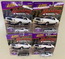 Lot Of 4 New 1977 Mustang Cobra II Johnny Lightning Classic Diecast Model Cars