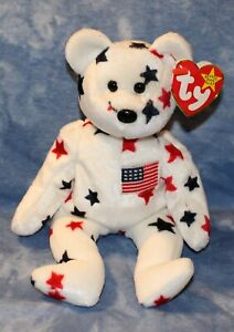 GLORY Ty Beanie Baby WITH Swing Tag ERRORS and Red Stamp on Tush Tag