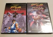 Street Fighter Dvd lot Alpha the Movie and Alpha Generations