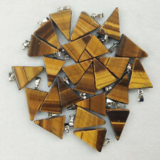 Natural tiger eye stone triangle shape charms pendants 50pcs/lot Wholesale free