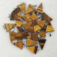 Natural tiger eye stone triangle shape charms pendants 50pcs/lot Wholesale free