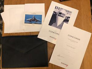 British Airways Concorde Wallet Stationary Postcards Certificate Brochure