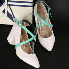 Detachable PU Leather Shoe Straps Laces Band-for Holding Loose High Heeled Shoes