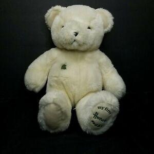 "My First Harrods Bear Ivory Cream Teddy Bear Plush Stuffed Toy 14"" Soft Baby"