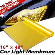 "16"" x 48"" Glossy Golden Yellow Vinyl Film Tint for Car SUV Headlight Fog Light"