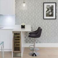 Geometric trellis triangles lines Textured wallpaper gray white silver metallic