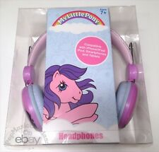 MLP My Little Pony licensed G1 style glitter Glory headphones